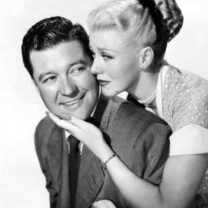Always a good guy, Dennis Morgan pictured with Ginger Rogers.