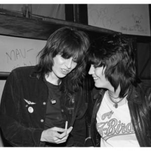 Chrissie Hynde & Joan Jett in 1980