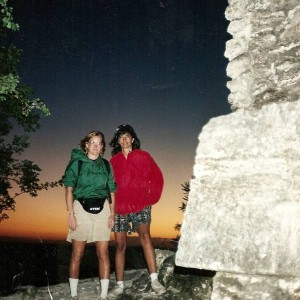 Col & me in Tikal Guatemala about 1989.
