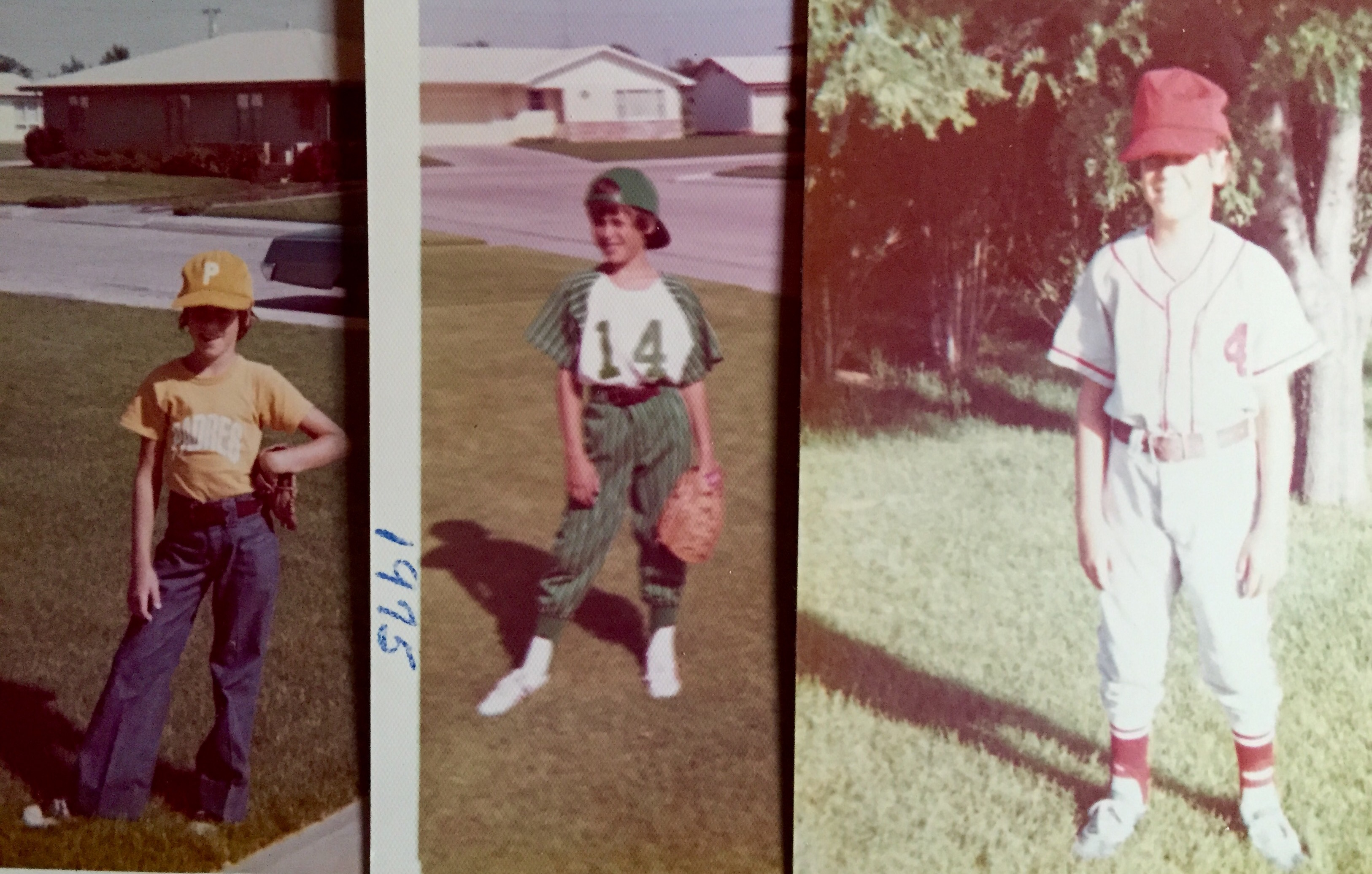 Standard little league-issue bell bottoms and great-fitting caps.