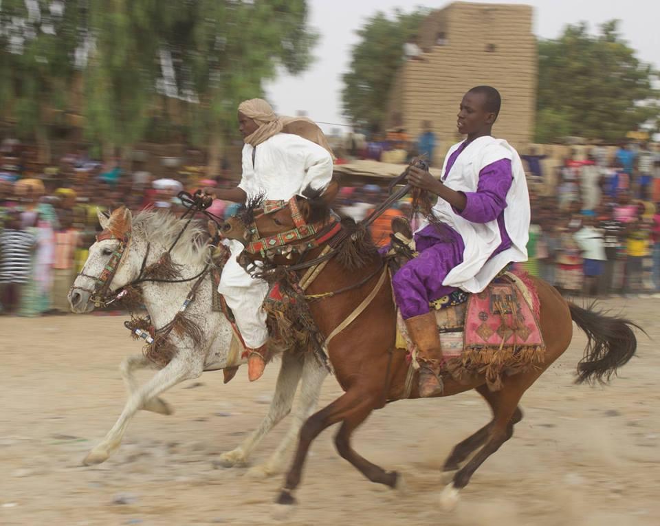 Riders at a Malian cultural festival.