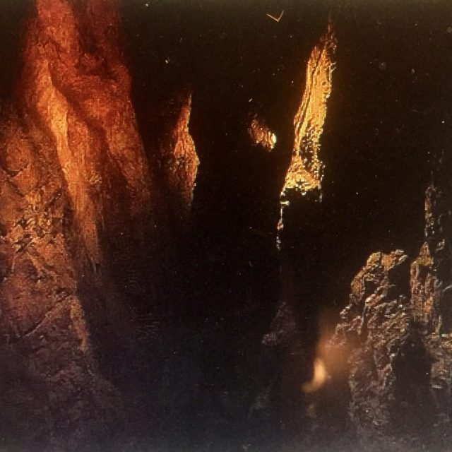 The edge of a chasm.