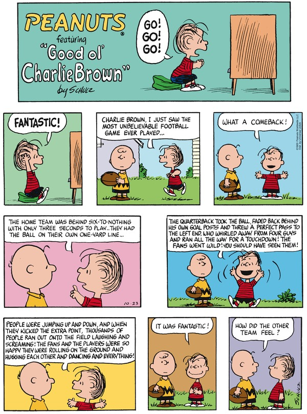 Peanuts by Charles Schultz.